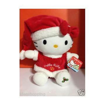 Peluche hello kitty babbo natale cm 18 con musica natalizia