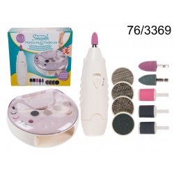 Set da manicure & pedicure con asciugaunghie integrato, set da 9