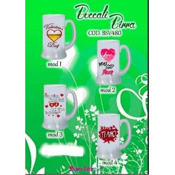 Boccali Birra personalizzati con scritte e disegni.