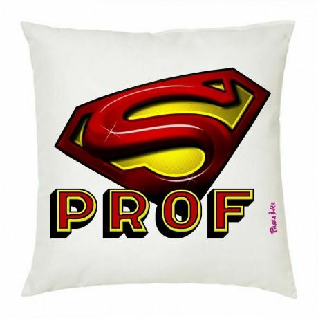 cuscino 40 x 40 cm scritta super prof professore insegnante scuola idea regalo