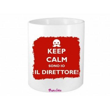 portapenne 8x10 scritta keep calm sono il direttore scuola idea regalo azienda