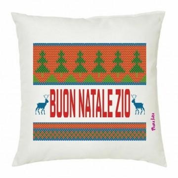 cuscino 40x40 scritta simpatica buon natale zio regalo feste natale