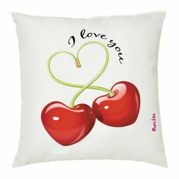 cuscino 40x40 scritta i love you ciliege cuore san valentino amore