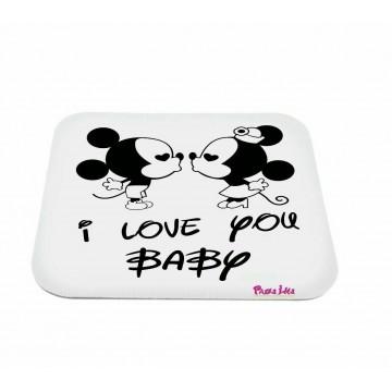 mouse pad pc scritta i love you baby topolino san valentino regalo amore