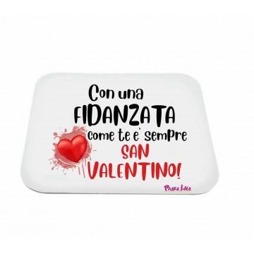 mouse pad pc rettangolare scritta fidanzata come te san valentino regalo amore