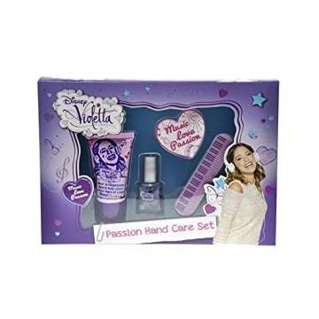 Set regalo trattamento mani Violetta, contiene 1 smalto, 2 lime e una crema