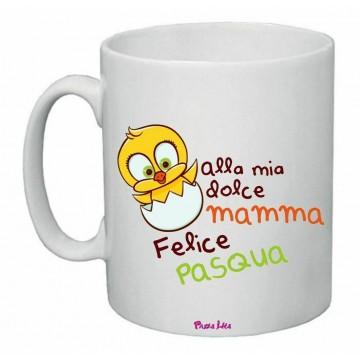 tazza ceramica 8x10 scritta alla mia dolce mamma felice pasqua regalo madre