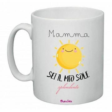 tazza mug 8x10 scritta mamma sei il mio sole splendente festa regalo compleanno