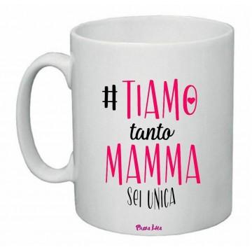 tazza mug 8x10 scritta  ti amo tanto mamma sei unica festa regalo compleanno