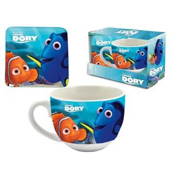 set tazza+sottobicchiere dory porcellana