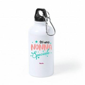 borraccia bottiglia alluminio 500 ml scritta sei una nonna speciale festa nonni