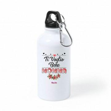 borraccia bottiglia alluminio 500 ml scritta ti voglio bene nonna festa nonni