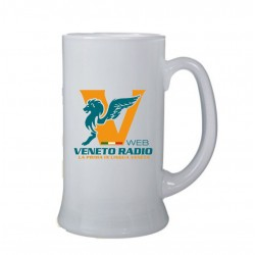 Boccale birra bicchiere veneto radio gadget logo
