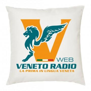 cuscino 40x40 scritta logo veneto radio gadget