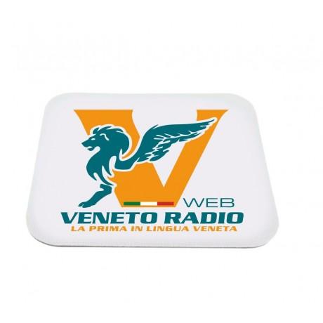 mouse pad tappetino rettangolare pc scritta logo veneto radio gadget
