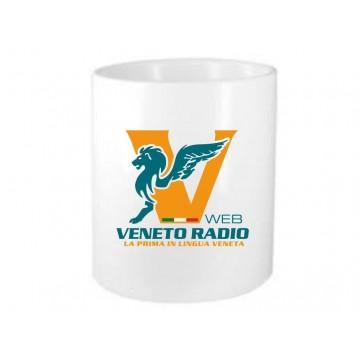 portapenne ceramica scritta logo veneto radio gadget