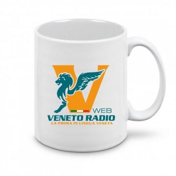 tazza 8x10 ceramica scritta logo veneto radio gadget