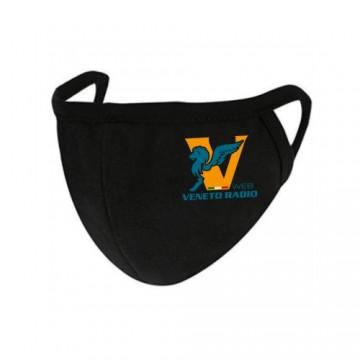 mascherina becco nera scritta logo veneto radio gadget