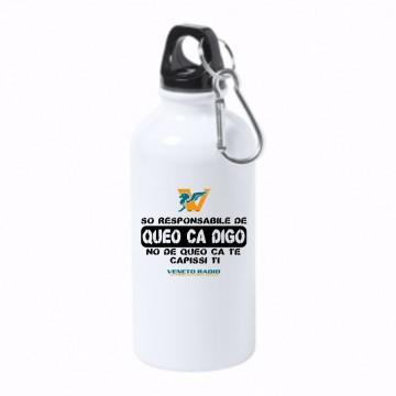 borraccia bottiglia alluminio 500 ml veneto radio son responsabile de queo ca digo