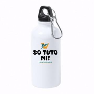 borraccia bottiglia alluminio 500 ml veneto radio so tuto mi