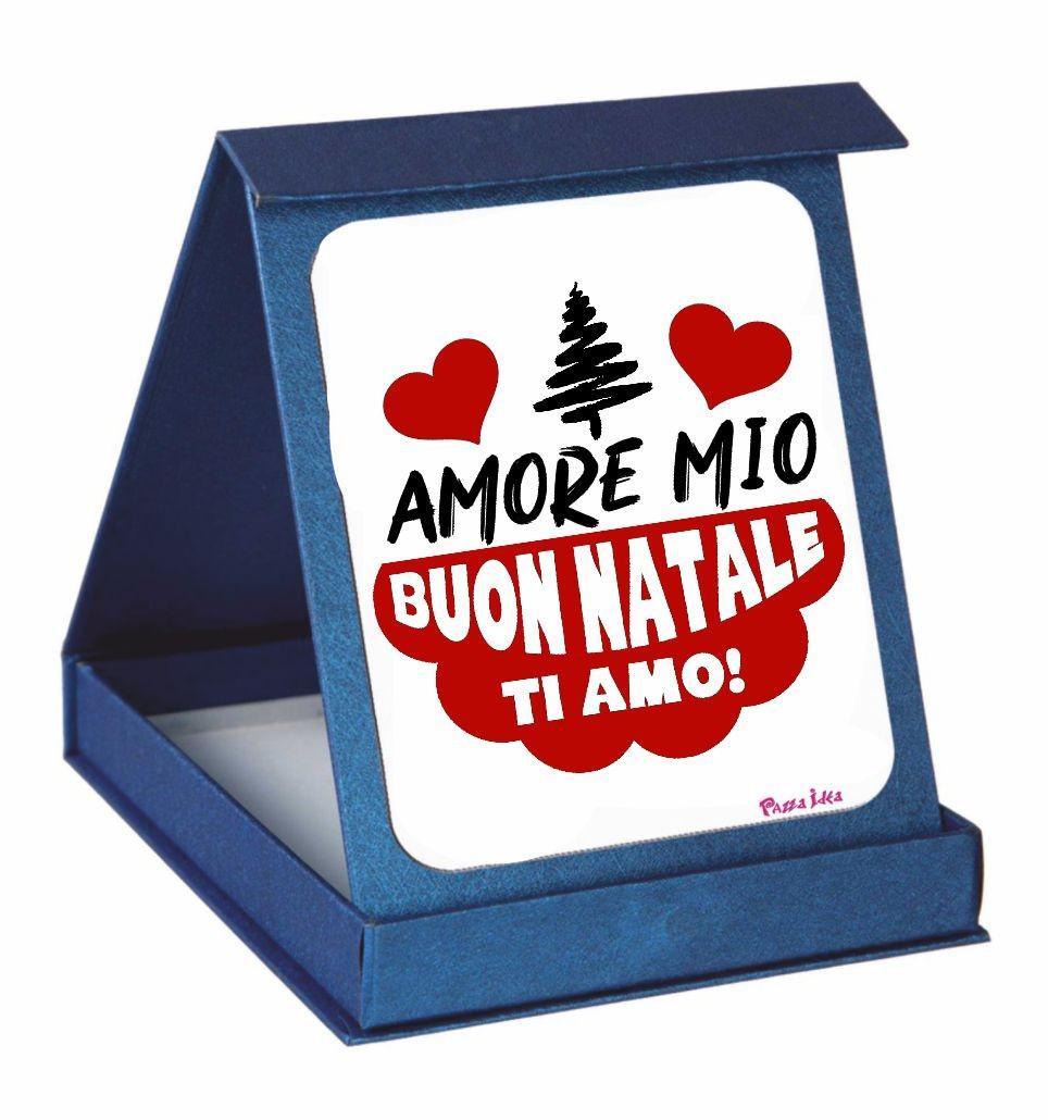 Buon Natale Ultras.Targa Con Scatola Natale Scritta Amore Mio Buon Natale Ti Amo Pazza Idea Regali