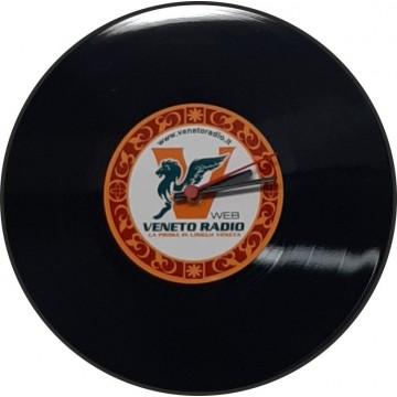 Orologio lp vinile con logo veneto radio