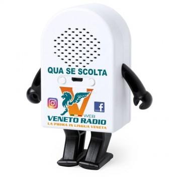 Speaker bluetooth a forma di omino. qua se scolta veneto radio