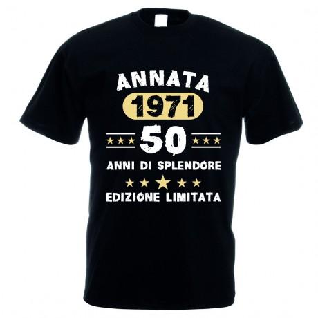 T-shirt uomo donna in cotone annata 1971 - 50 anni edizione limitata