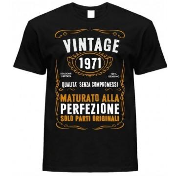 T-shirt vintage 1971 maturato alla perfezione