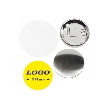 Spilla diametro 44mm con il tuo logo minimo pezzi 100