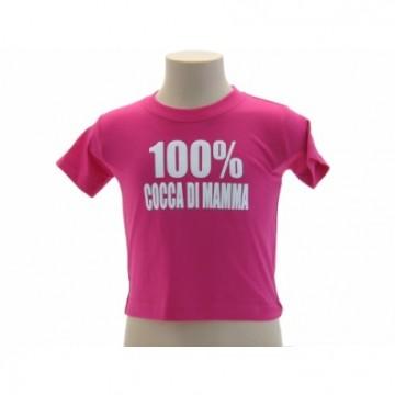 """t-shirt baby frase divertente """"cocca di mamma"""""""