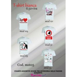 T-shirt bianche personalizzate ..